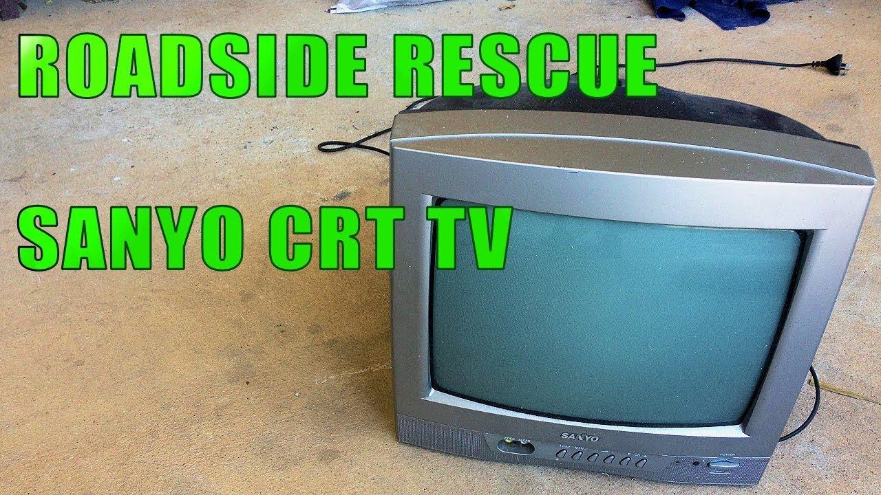 Roadside Rescue - Sanyo CRT TV - YouTube