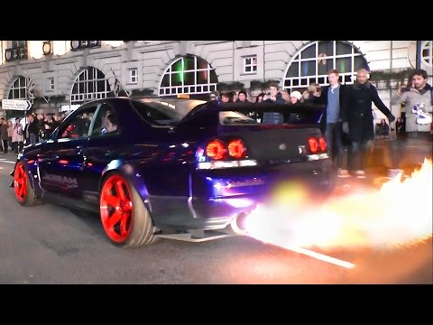 Kream Developments Nissan Skyline GTR - Burnouts, Flames and LAUNCH!