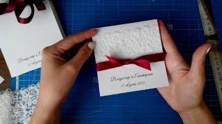 видео Открытки на свадьбу своими руками