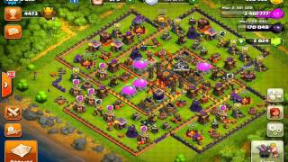 Clash of Clans Destroying the Endbosses: Unbeatable new TH10 Titan base (275 walls)