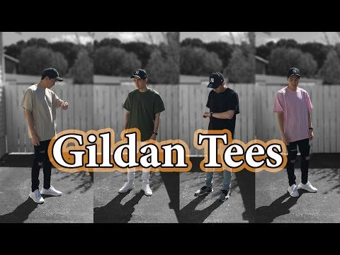 Styling Affordable Tees | Fits with $4 Gildan Tee Shirts w/ Adidas NMD, Ultra Boost