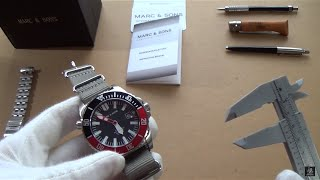 Marc & Sons 300m Professional Automatic Diver Watch Review - Reference MSD-032