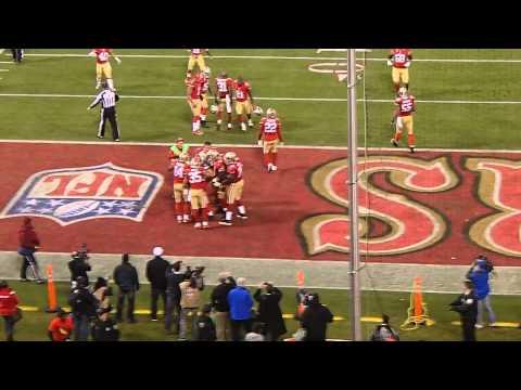 NaVorro Bowman Interception 49ers vs Falcons  Fan's Perspective Candlestick Park