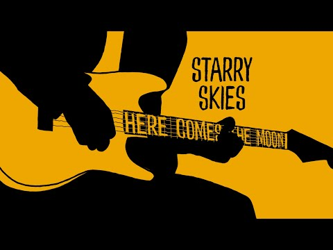 STARRY SKIES  - HERE COMES THE MOON - (animation pop music video made in Glasgow, London & Brooklyn)