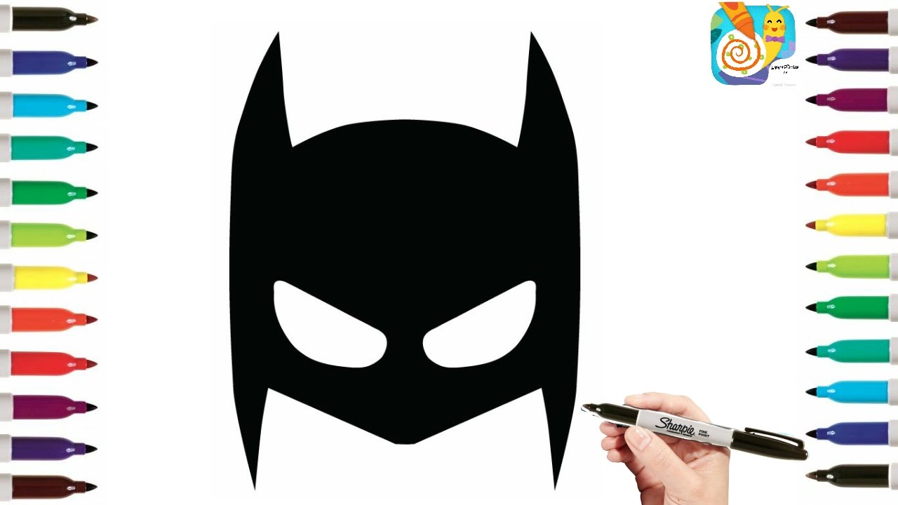 how to draw mask of batman coloring pages coloring pages for