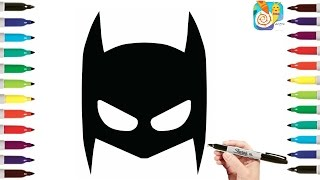 How To Draw Mask of Batman Coloring Pages , Coloring Pages for Kids