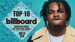 Top 10 • US Bubbling Under Hip-Hop/R&B Songs • June 23, 2018 | Billboard-Charts