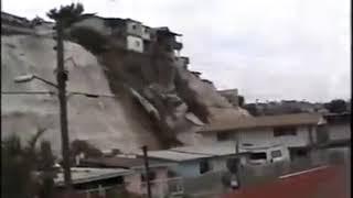 Derrumbe en Lomas del Rubí Tijuana B.C 2018