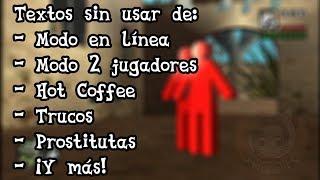 Algunos textos interesantes sin usar en español - GTA San Andreas PC