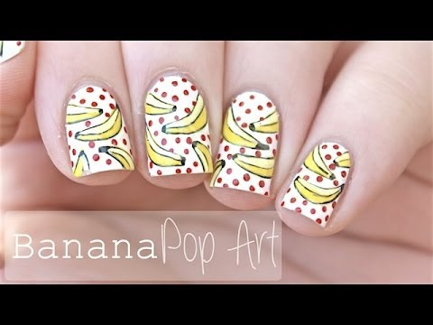 Pop Art Banana Nails