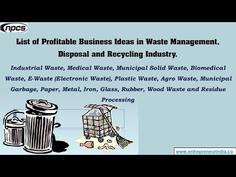 List of Profitable Business Ideas in Waste Management, Disposal and Recycling Industry.