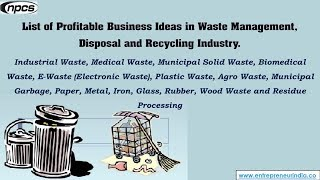 Waste Management, Disposal and Recycling Industry
