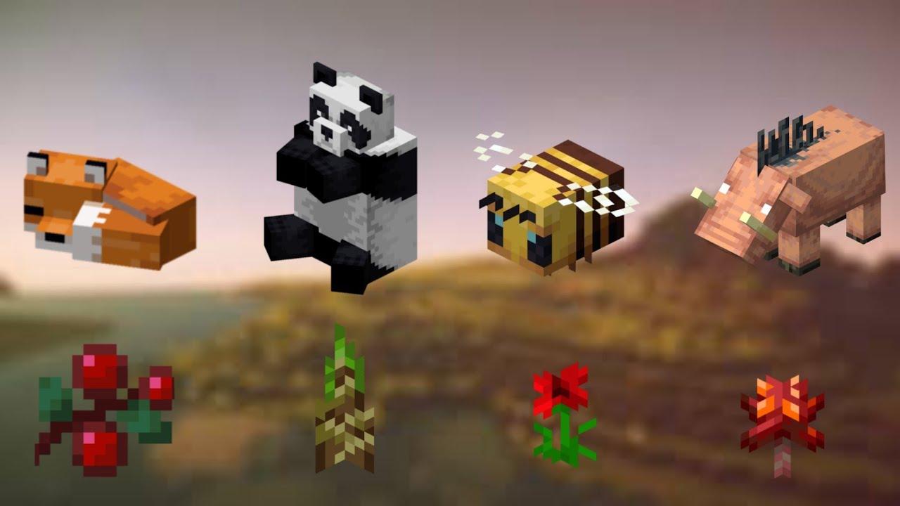 All Minecraft Mobs Breeding Foods Timestamp Minecraft Youtube