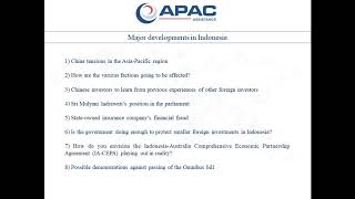 Strategic insights on major developments in Indonesia feat, Paul Quaglia
