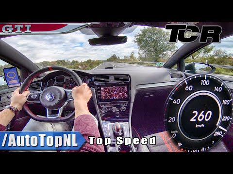 VW Golf GTI TCR | TOP SPEED On AUTOBAHN (NO Speed LIMIT) By AutoTopNL