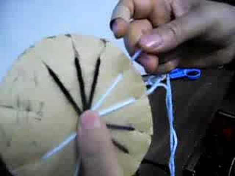 Kiwua Make A Wheel Braided Friendship Bracelets Youtube