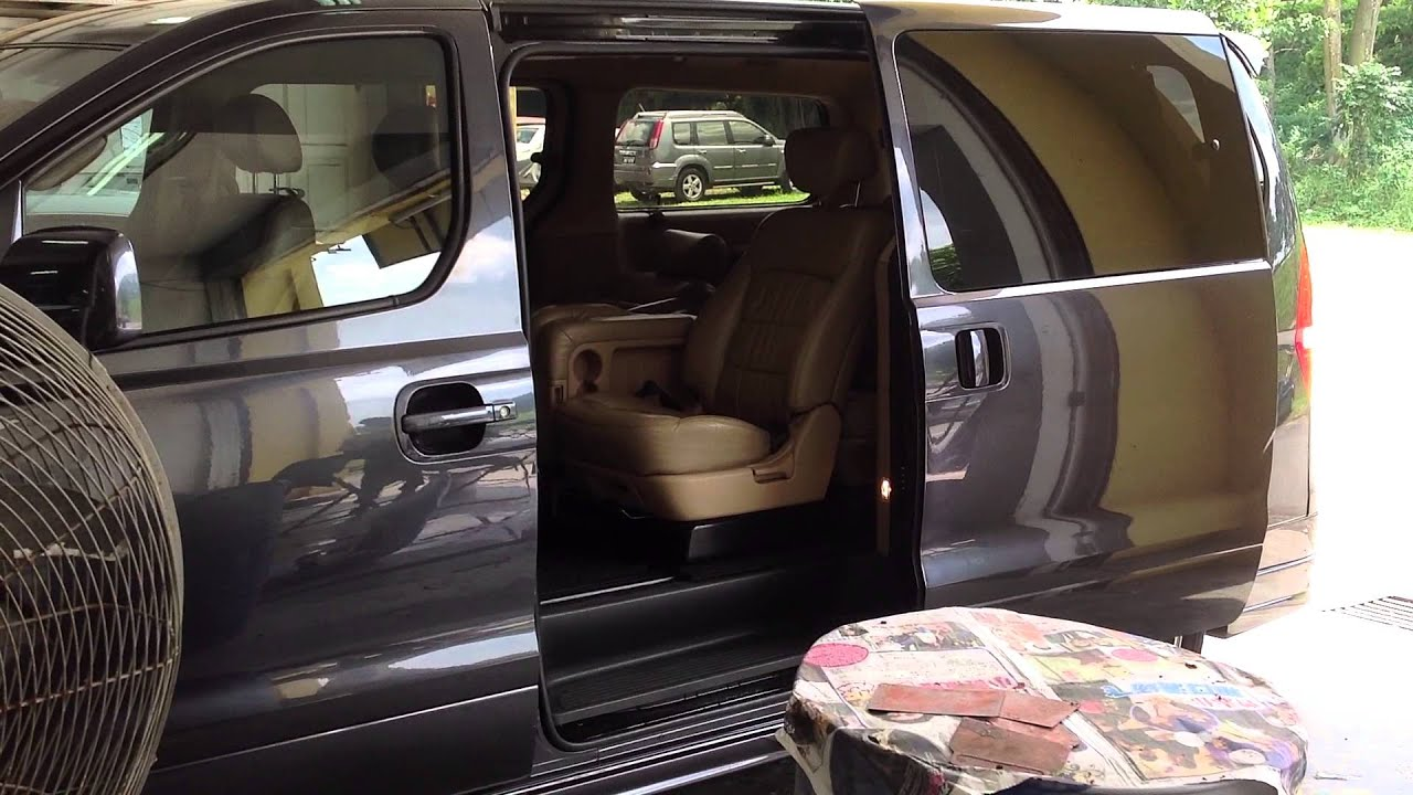 Hyundai Starex H1 Power Sliding Door at Malaysia JB - YouTube