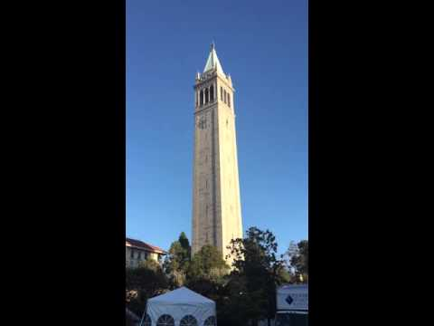 UC Berkeley Sather Tower 2015 Chinese National Anthem