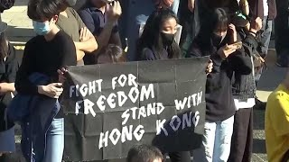 Largely peaceful protests return to Hong Kong