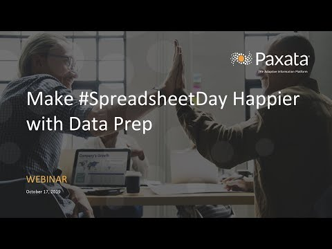 Make #SpreadsheetDay Happier with Data Prep