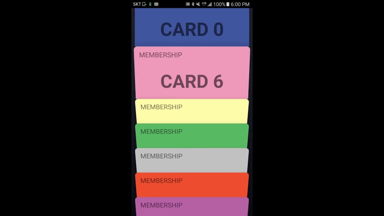 Android Card Carousel based on a ViewPager