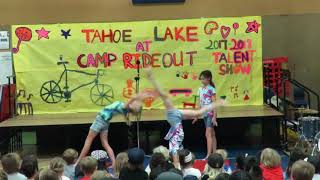 Niki, Alice and Emma at the Tahoe Lake Talent Show