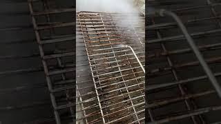 고압 스팀세척기를 이용한 바비큐그릴 청소 테스트 #2