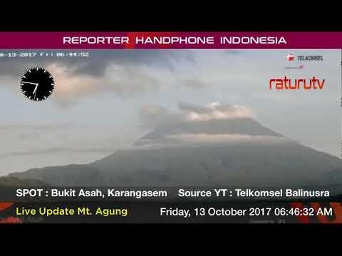 Bali Volcano : Mount Agung Gunung Agung Bali real time. 13102017 - I