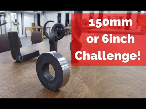 150mm or 6 Inch Challenge! Upset, Punched and machined! #150mmchallenge