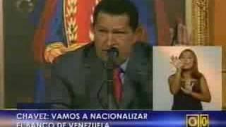 Chávez ordena nacionalizar el Banco de Venezuela
