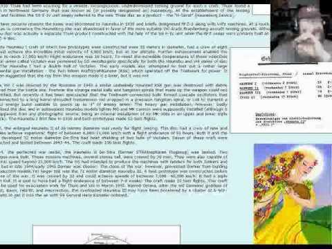 Jan 07 2012 jaw boning, chewing the shit (Nazi UFO