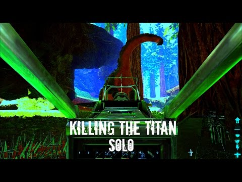 KILLING A TITANOSAUR (Round 2) - Gigas and Turrets - ARK Survival Evolved