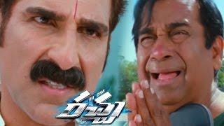 Mukesh rushi beating brahmanandam comedy scene || racha movie || ram charan, tamannaah