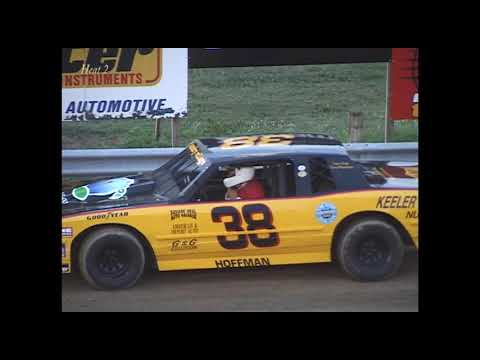 Full race from the Factory Stock division at Hartford Speedway Park in MI, July 27, 2001. - dirt track racing video image