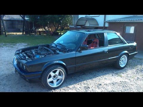 BMW e30 V8 M60 sound exhaust and donats