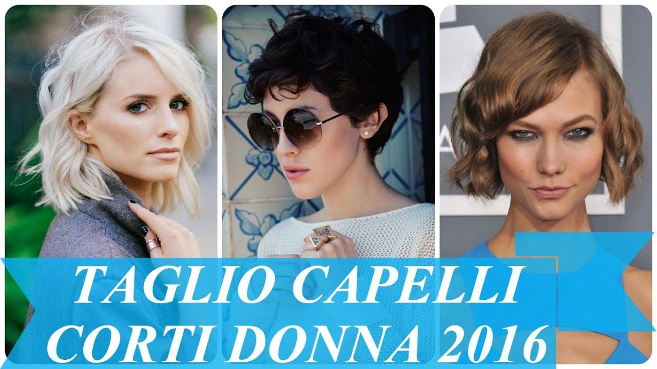 Taglio capelli corti donna 2016 - YouTube