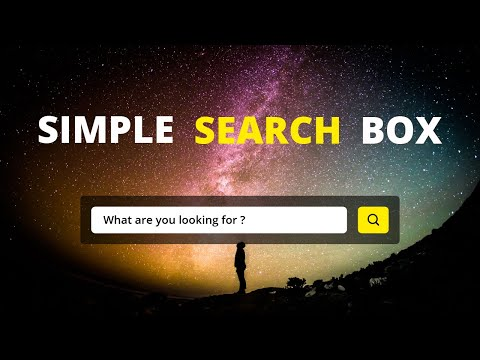 Simple Search Box Using HTML And CSS | Search Bar Design