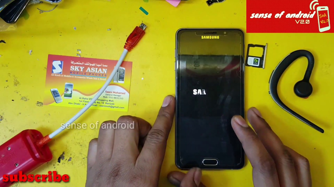 Samsung A7 2016 Android Nougat 7 0 FRP removed Done 100% Its Work All  Samsung Model by Sense of Android V3 0