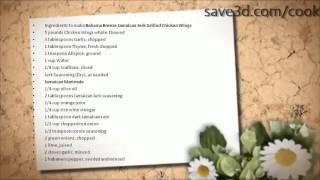 Secret Recipe - How To Make Bahama Breeze Jamaican Jerk Grilled Chicken Wings (copycat Recipes)