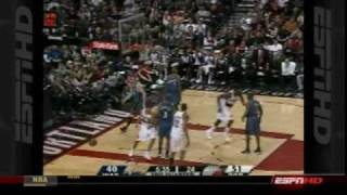 Greg oden double-double - blazers vs wizards jan 24