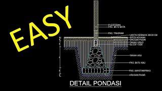 cara mudah membuat pondasi rumah di AutoCAD 2011 - Part 1