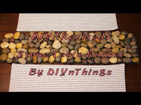 DIY (Revised) Stone Table Runner