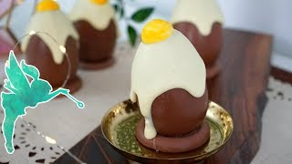 Schokoladen Spiegelei selber machen - Spiegelei aus Schokolade zu Ostern - Kuchenfee
