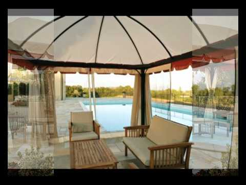gazebo tunisi 4x3 con telo in pvc da giardino youtube. Black Bedroom Furniture Sets. Home Design Ideas