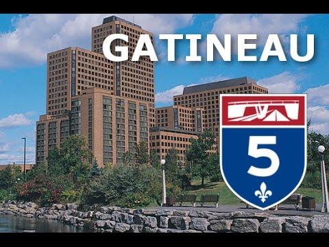 Ottawa / Gatineau Freeways : Autoroute 5 & Downtown Ottawa