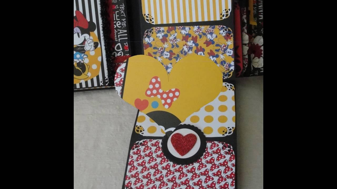 Minnie Mouse Scrapbook Album Youtube