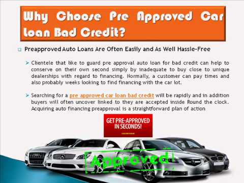 Car Loan Pre Approval With Bad Credit And No Down Payment - YouTube