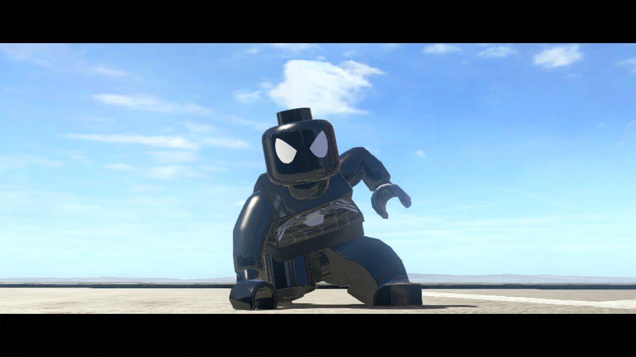 lego marvel superheroes black suit spiderman mod youtube