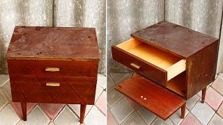 Шикарное перевоплощение старой тумбочки. Декор мебели, ручная работа