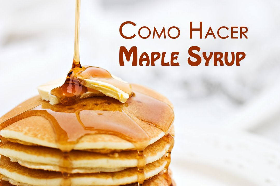 Como Hacer Sirope de Arce o Maple Syrup  YouTube